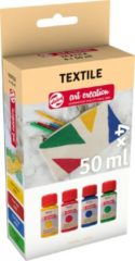Talens Art Creation textielverf parel, flacon van 50 ml, set van 4 stuks
