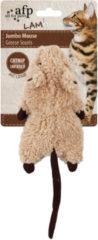 All For Paws Jumbo Crinkle Catnip Rodent - Kattenspeelgoed - 19x9x7 cm Assorti