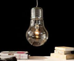 DeLife Leuchte Bulb Deluxe Transparent 30x50 cm Glühbirne Hängeleuchte