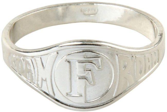 Afbeelding van Zilveren Feyenoord Ring Zilver Relief Maat 19