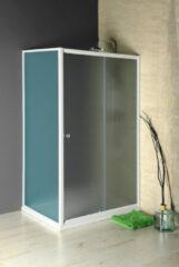 Aqualine Amadeo schuif douchedeur 100x185cm wit