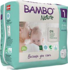 Bambo Babyluiers - Maat 1 - Baby 2 tot 4 kg - 22 Stuks