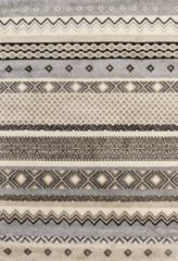 Impression Rugs Design Collection Loft Kader Beige / Grijs vloerkleed Laagpolig - 80x150 CM