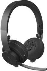 Grijze Logitech MSFT Teams Zone Wireless Headset Hoofdband Bluetooth Grafiet