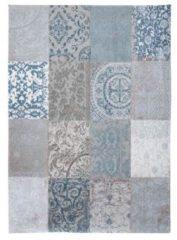 Blauwe Louis de Poortere vloerkleden Patchwork vloerkleed Bruges Blue 8981 140x200 cm