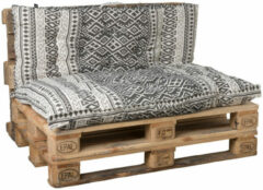 Living Luxury Luxe pallet kussens | Zwart/wit set van 2 | Luxury living