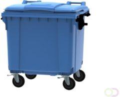 Ese 4 wiel container 1100 liter blauw