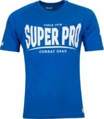 Super Pro Sportshirt - Maat L - Mannen - blauw/wit