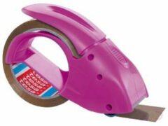 Roze Tesa® Tesapack® Handdispenser Pack-n-Go, dispenser voor verpakkingstape, gebruiksvriendelijk, ergonomisch