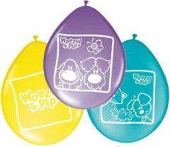 Woezel & Pip 16x stuks Woezel en Pip thema kinder verjaardag feest ballonnen 27 cm - Versieringen/Feestartikelen
