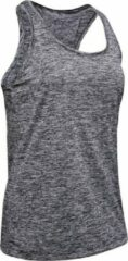 Under Armour - Women's Tech Tank - Twist - Tanktop maat S, grijs/zwart