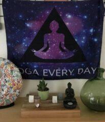 Mandala kleed Yoga - tafelkleed - wandkleed 95 x 75 cm - paars