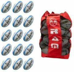 New G-TR4000 rugbybal bundel - Met tas - Maat 5 - Fluor - 15 stuks
