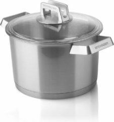 Roestvrijstalen Mehrzer Premium - Hoge braadpan met deksel - 20 cm - RVS
