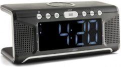 Caliber Wekkerradio Met Draadloos Opladen - Zwart (HCG008Q)