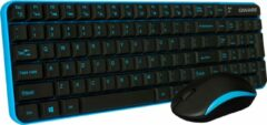 Qware Office Qware - Office - Toetsenbord - Muis - Draadloos - 2.4ghz - USB - Desktopset - Combo - Waterford - Blauw - Qwerty