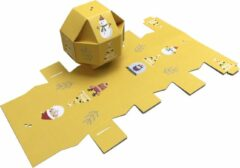 "Presentdoosjes.nl Presentdoosje ""Kerstbal doosje geel"" : 9,5 x 9,5 x 9,5cm (10 stuks)"