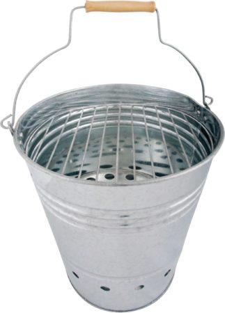 Afbeelding van Zilveren Fancy Flames Esschert Design Emmer Houtskoolbarbecue