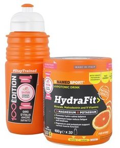 Immagine di Named Sport HydraFit Drink vitamine e sali minerali 400g + IN OMAGGIO Borraccia 100th Edition Giro d'Italia