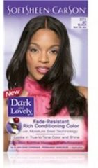 Donkerblauwe Dark and Lovely Hair Color Midnight Blue 382
