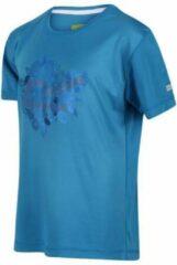 Regatta - Kid's Alvardo V Graphic T-Shirt - Outdoorshirt - Kinderen - Maat 3-4 Jaar - Blauw
