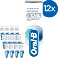 Oral-B Tandvlees & Glazuur Repair Zachte Whitening - Voordeelverpakking 12x75 ml - Tandpasta
