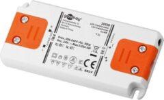 Goobay SET 24-12 LED slim LED-transformator Constante spanning 0 tot 12 W 0.5 A 24 V/DC Niet dimbaar, Geschikt voor meubels