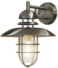 Konstsmide Sorrento 7319-000 Buitenlamp (wand) Energielabel: Afhankelijk van de lamp Spaarlamp, LED E27 60 W RVS