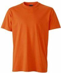 James & Nicholson Fusible Systems - Heren James and Nicholson Workwear T-Shirt (Oranje)
