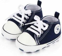 Donkerblauwe Canvas Baby Schoenen-Kinderschoenen-Schoenen voor baby's-Eerste Wandelaars-Meisjes Eerste Wandelaars-Kinderschoenen voor baby's-Baby schoenen Pasgeboren-Baby-Jongens-Zachte Zool-Baby schoenen-kinderschoenen Jongen-Babyschoenen -Schoenen-6-12M