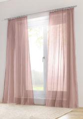 Hessnatur Vorhang mit Gardinenband – rosa – Größe 245x135cm