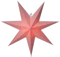 Papierstern 'Romantik' Star Trading rosa