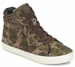 Groene Hoge Sneakers Geox KIWI GIRL