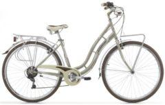 Cicli Cinzia 28 ZOLL CINZIA CHARLESTON CITY FAHRRAD 6-GANG Citybike Damen gold-grau