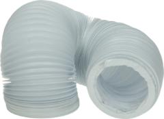 Wpro Abluftschlauch 100erR 2,5m, weiß, Netz (PVC-Schlauch) für Trockner 482253027271
