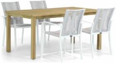 Witte Santika Furniture Santika Annisa/Weston 160 cm dining tuinset 5-delig