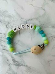 Turquoise He and She Gifts Speenkoord met naam - gepersonaliseerd - verschillende kleuren