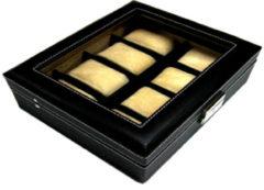 Benson Leder Horlogebox A4 Zwart