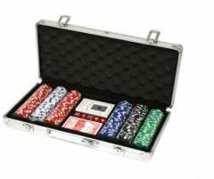 Grijze Professionele Poker set in aluminium koffer