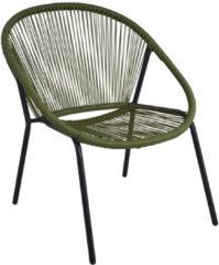 Pro Garden Stapelstoel 73 X 71 X 83 Cm Staal/polyester Groen/grijs