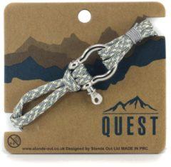Quest Veter Armband met Schroefsluiting Grijs Q13