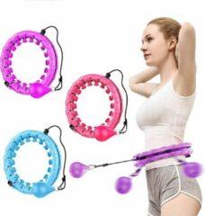 Roze Morgenstern - Fitness Hoelahoep - Hoelahoep - weighted hula hoop - Volwassenen Hoelahoeps - 1,7 kg