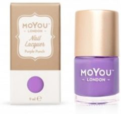 Paarse Mo You London Stempel Nagellak - Stamping Nail Polish - Purple Punch