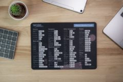 Zwarte Worksmarter Microsoft Visual Studio Code Shortcut Mousepad - Normal - Mac
