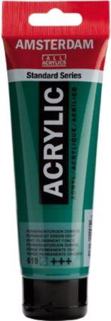 Afbeelding van Groene Royal Talens Standard tube 120 ml Permanentgroen donker halftransparante acrylverf permanent groen donker