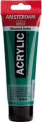 Groene Royal Talens Standard tube 120 ml Permanentgroen donker halftransparante acrylverf permanent groen donker
