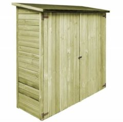 Groene VidaXL Tuinschuur 192x76x175 cm FSC geïmpregneerd grenenhout