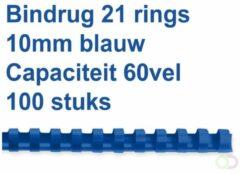 Fellowes bindruggen, pak van 100 stuks, 10 mm, blauw