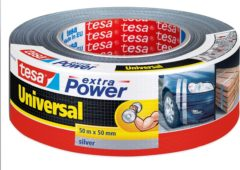 Grijze Tesa 56389-00000-07 56389-00000-07 Cloth tape tesa® extra Power Silver (L x W) 50 m x 48 mm 1 pc(s)