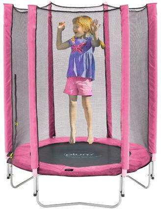 Afbeelding van Plum Junior trampoline incl. veiligheidsnet roze 140 cm - Trampoline